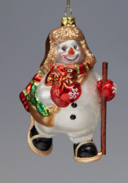 Лесные снеговички-спортсмены №1