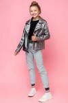 Весенняя куртка-косуха из экокожи VKD-21. NEW*20