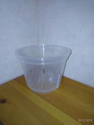 Горшок дренажный для орхидей 11*8 прозрачный