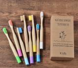Зубная щетка бамбуковая ДЕТСКАЯ круглая ручка