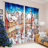 """Фотошторы """"Рождественская ярмарка"""" ,145*260 см, 2 шт"""