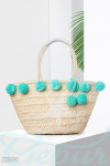 Пляжная сумка помпоны Gepur