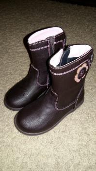Итальянские кожаные сапожки (24 размера)