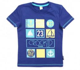 Футболка для мальчиков Crockid ocean (синяя)