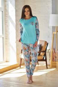 Пижама (блуза+брюки)