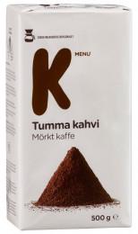 Молотый кофе, K-Menu Tumaa Kahvi, 500г.
