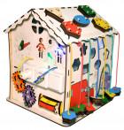 Бизиборд - Развивающий домик (со светом)