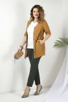 блуза, брюки, жакет JeRusi Артикул: 2032 коричневый-хаки