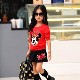 Повседневный детский костюм c длинным рукавом с юбкой с муль
