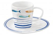 Чашка с блюдцем Морской берегв подарочной упаковке