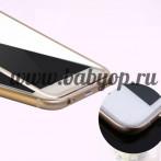 Защитное стекло с металлическим кантом для iPhone 6+, 6S+