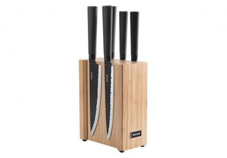 Набор из 5 кухонных ножей на магнитном блоке, NADOBA, серия