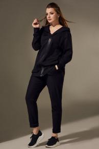 брюки, толстовка Andrea Style Артикул: 00299 чёрный