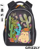 Школьный рюкзак Grizzly RG-762-1(черный)