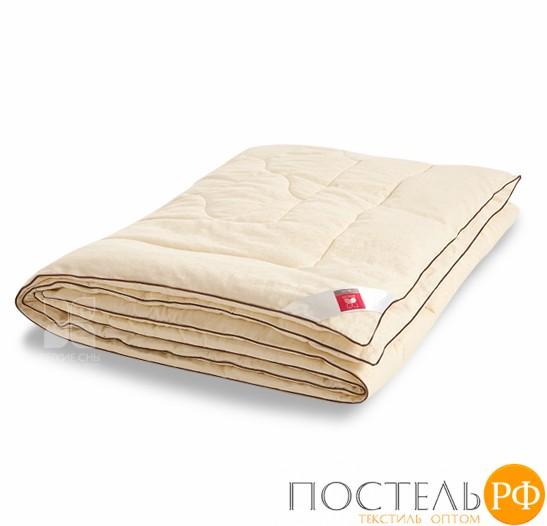 Одеяло 'Милана'  110х140 сатин, козья шерсть, ЛЕГКОЕ 110(34)