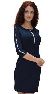 1356 Платье Черно-синий