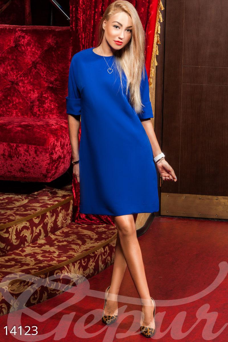 Свободное платье-трапеция Gepur