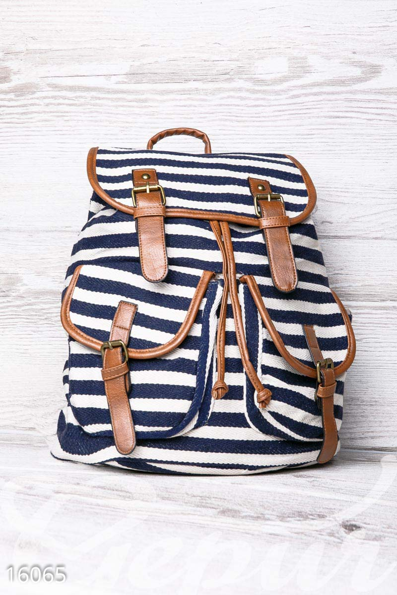 Рюкзак в полоску Gepur