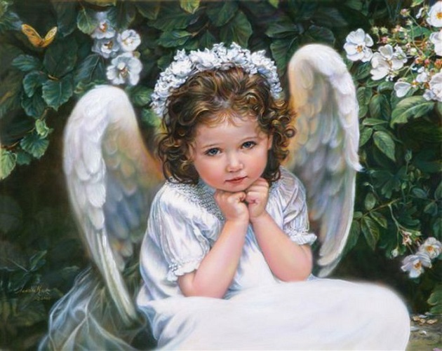 Днем рождения, маленький ангел на открытках