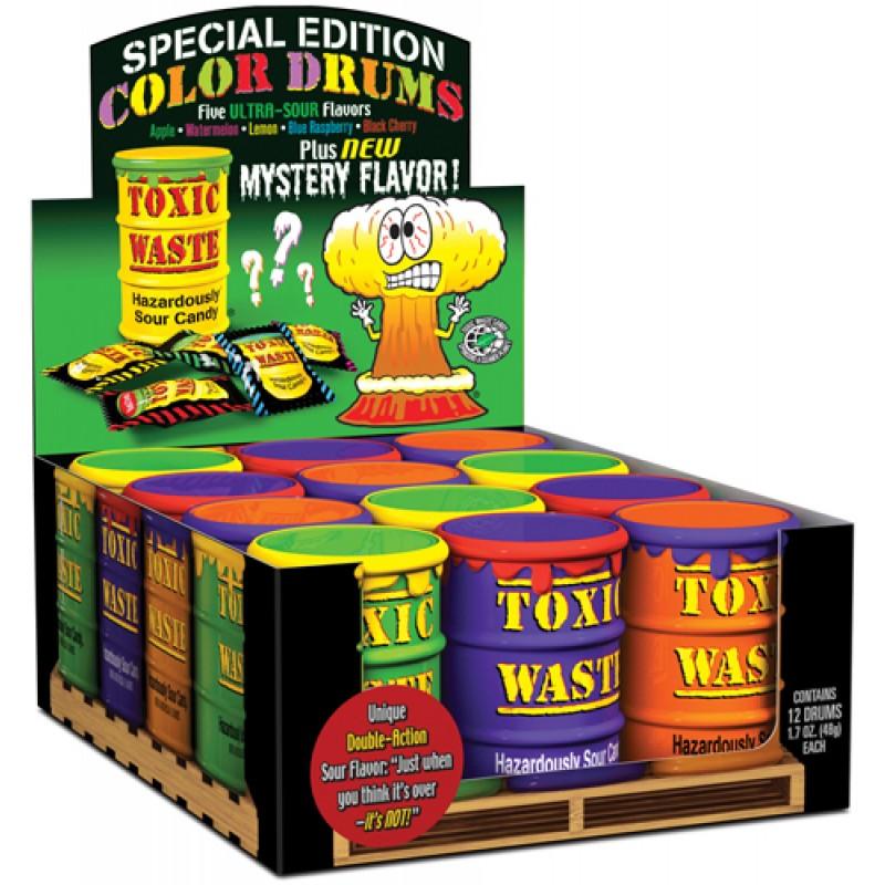 Конфеты Toxic Waste в ассортименте