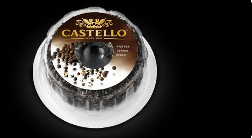 Сыр CASTELLO в черном перце, 125 гр