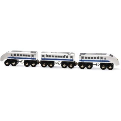 BRIO пассажирский поезд-экспресс со звуком,3 дерев.ваг.,35