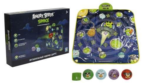 музыкальный коврик-игра дартс Angry Birds Space, 4 мячик