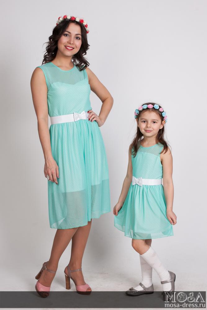 платье для мамы и дочки с доставкой самара
