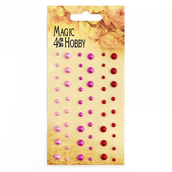 Полужемчужины клеевые Magic Hobby арт.MG PE 110 уп.54 шт