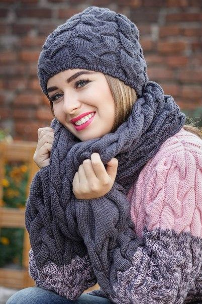 Комплект шапка+шарф №144
