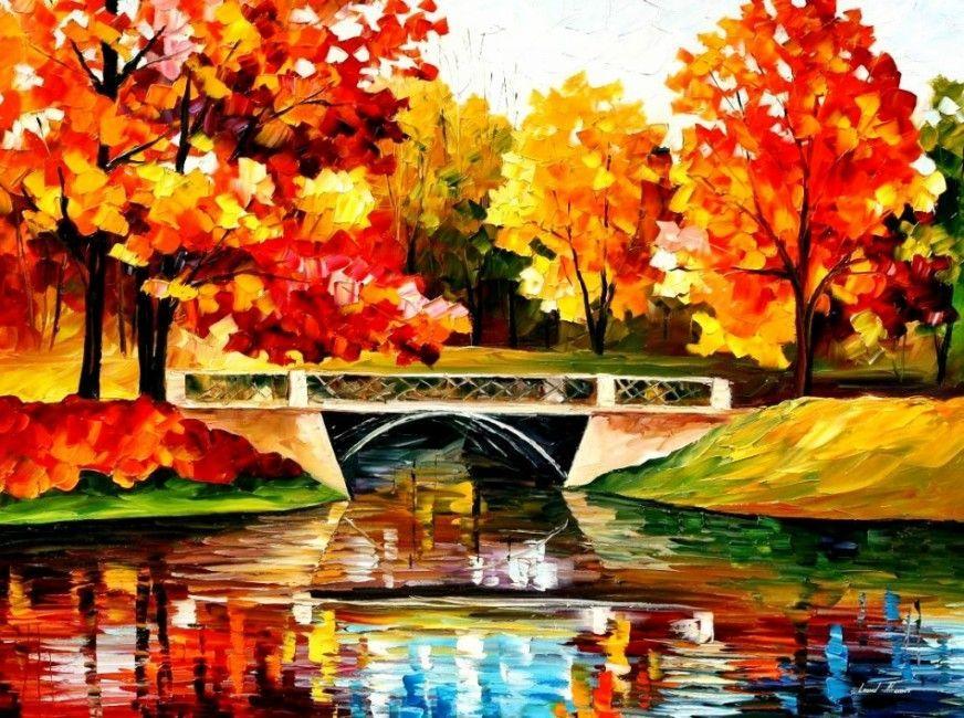 Осень картинки красивые нарисованные, для