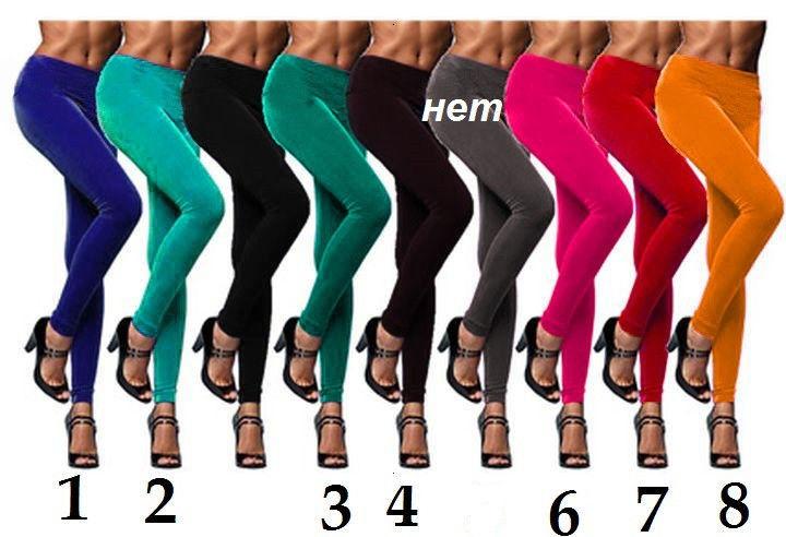 Леггинсы велюровые цветные-10 оттенков