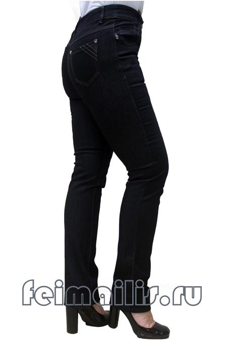 Прямые черные джинсы Feimailis