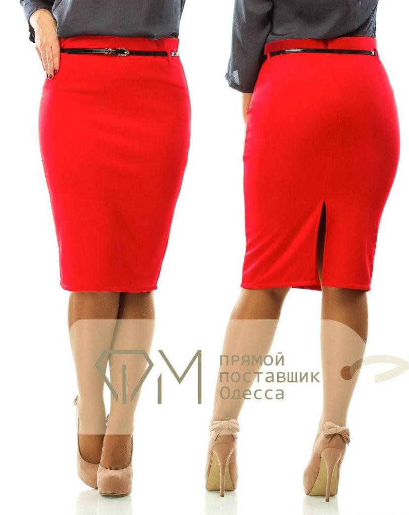 Прямые юбки красные фото