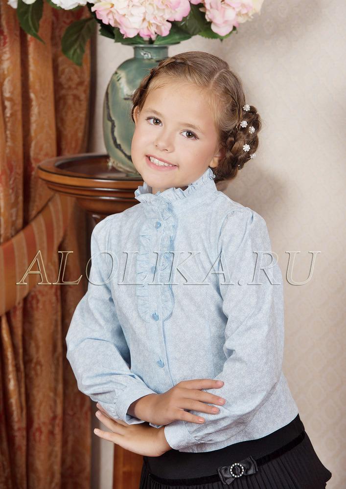 Блузка А*льпина голубая