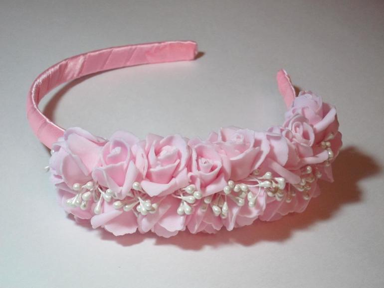 Ободок из фоамирана Галерея роз Мастер-класс с