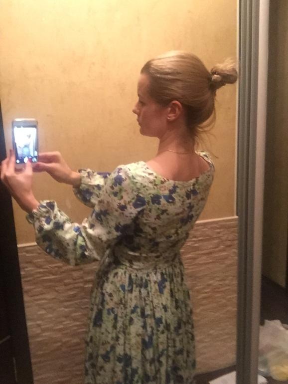 девушка инстаграмм платье