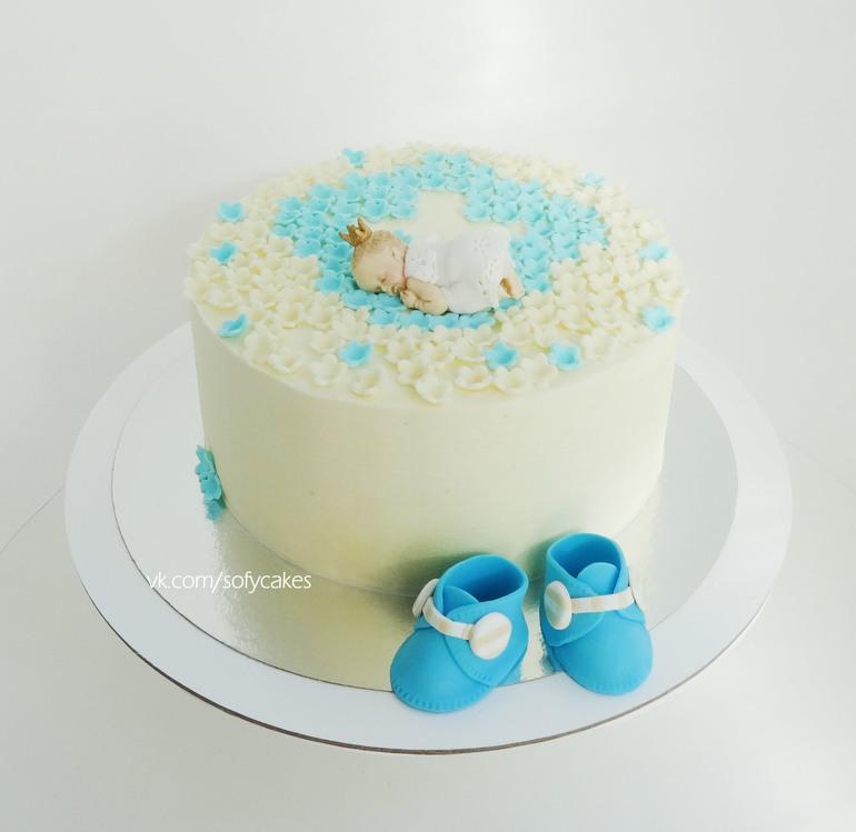 Торт на крещения ребенка фото