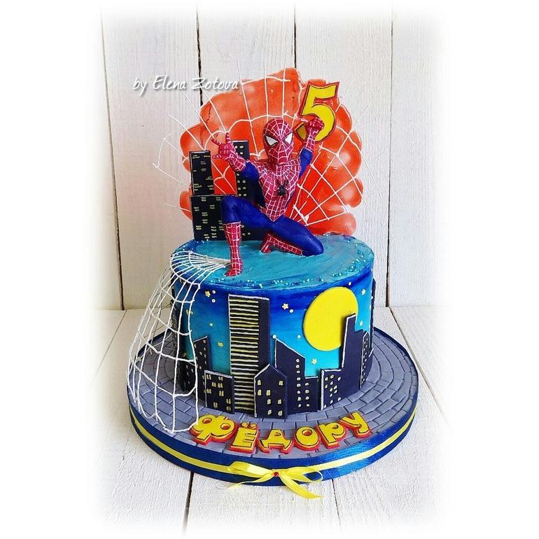 картинки торт человек паук