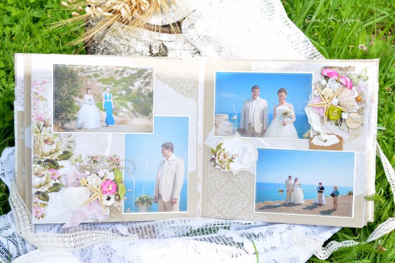 Свадебный фотоальбом в стиле рустик