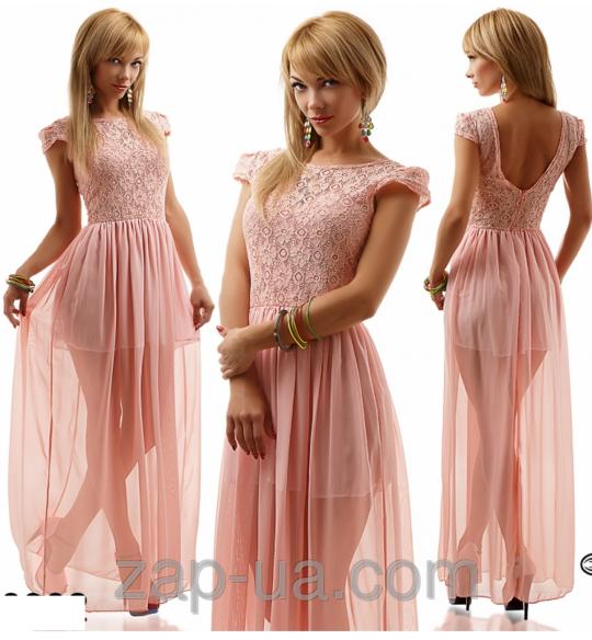 Платье с гипюровым лифом