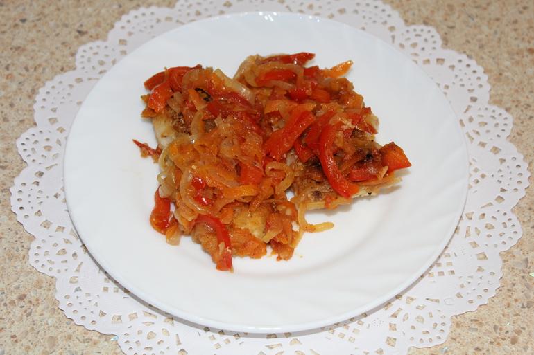 Судак под маринадом из моркови — 2