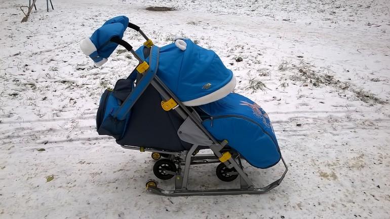 санки коляска ника 7 2 фото