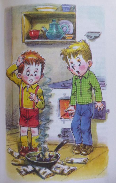 иллюстрации к рассказу мишкина каша еще древних