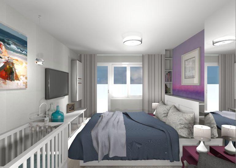 Вытянутая спальня