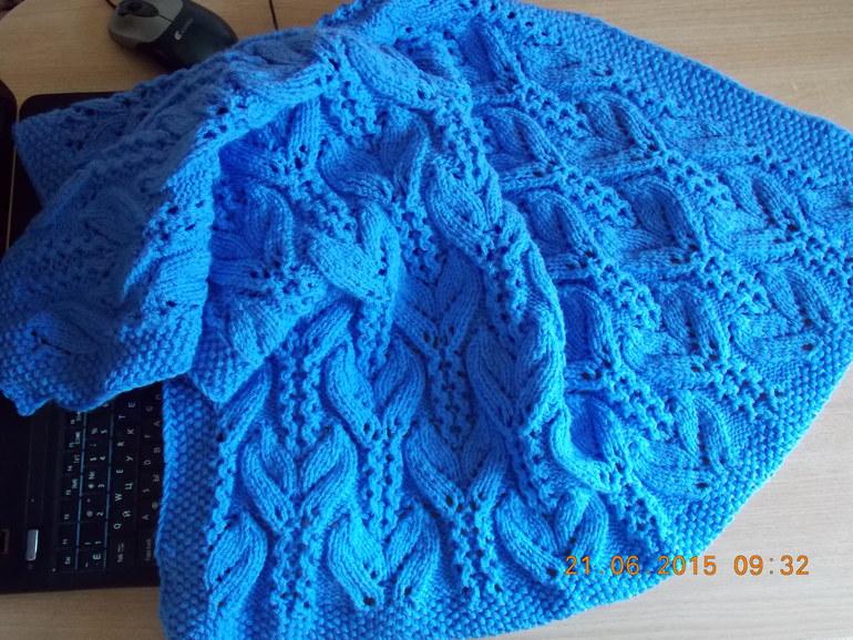 Узор для вязания в две нитки