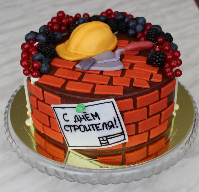 Торт для строителей фото