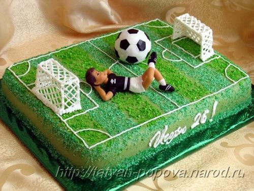 торт на тему футбола фото