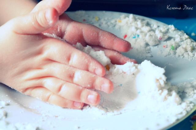 Песок для лепки своими руками