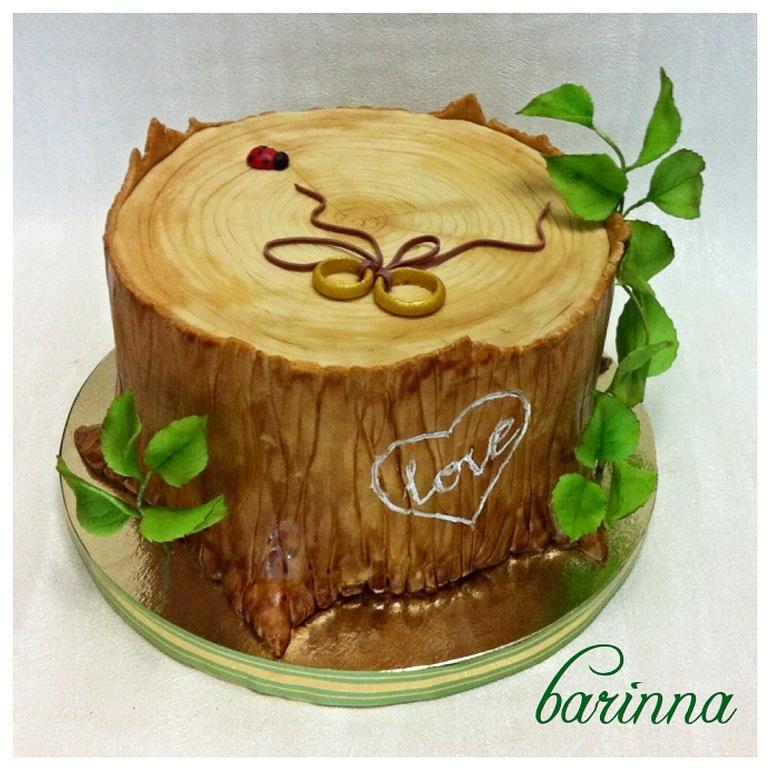 Фото тортов на деревянную свкадьбу